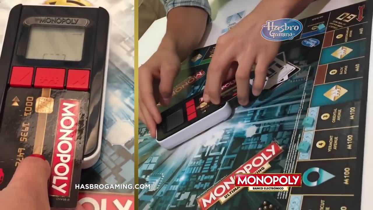 Hasbro Gaming 'Nuevo Monopoly Banco Electrónico' Comercial de TV