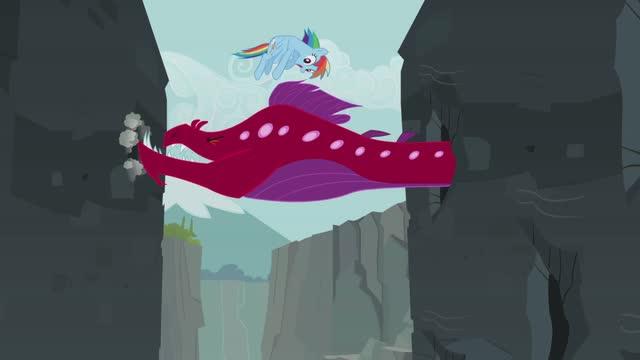 My little pony conoce a Rainbow Dash