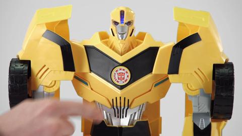 Transformers Robots in Disguise RID Super Bumblebee - Produktdemo-Video - B0757EU4_5010994871802