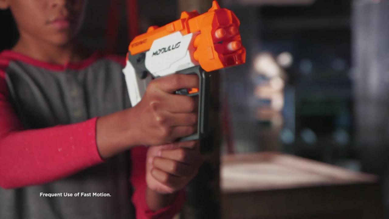 NERF Modulus Stockshot - Produktdemo-Video