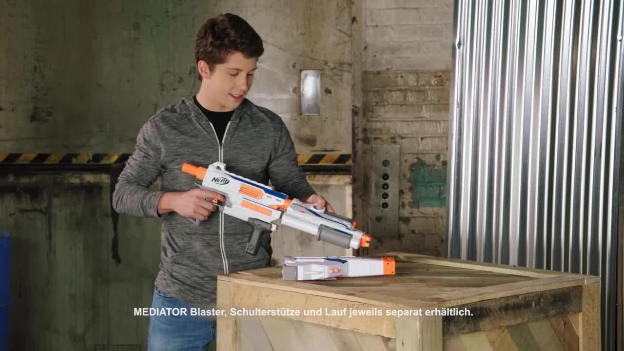 NERF N-Strike Modulus Firepower Upgrade Set Mediator Schulterstütze - Produktdemo-Video