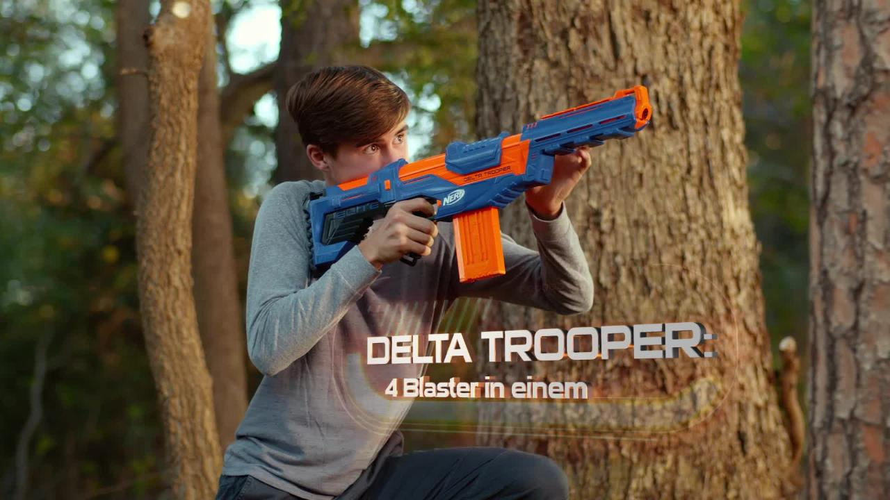 NERF N-Strike Elite - Disruptor, Delta Trooper und Surgefire - TV-Spot