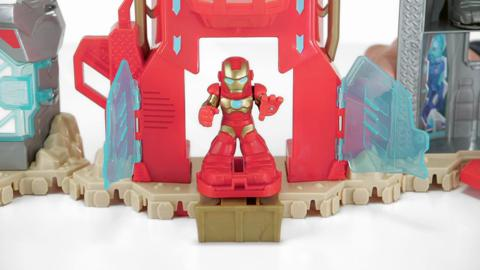 Playskool Heroes Marvel Iron Man Iron Up Fortress Demo