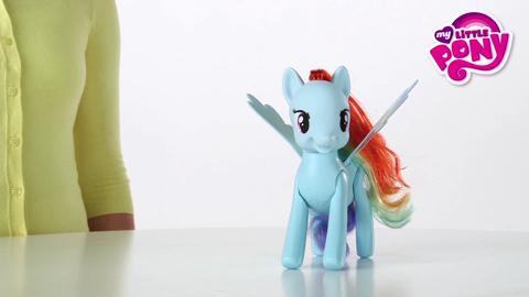 Démo - Rainbow Dash saute et vole fait une pirouette !