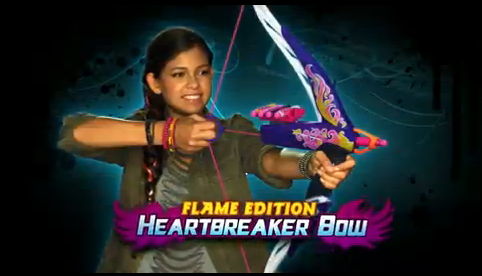 NERF REBELLE HEARTBREAKER BOW FLAME EDITION AND STAR SHOT GALLERY