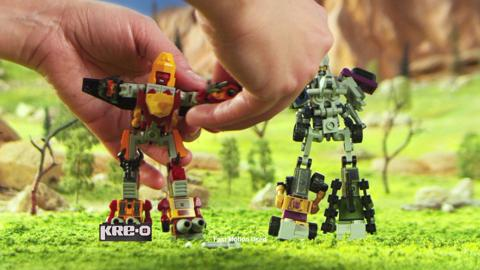 KRE-O TRANSFORMERS MICRO CHANGERS COMBINERS Construction Sets TV Commercial