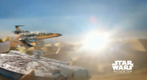 Star Wars | Battle Action Millennium Falcon Διαφημιστικό