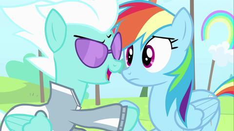 RainbowDash: representa el espíritu de la LEALTAD