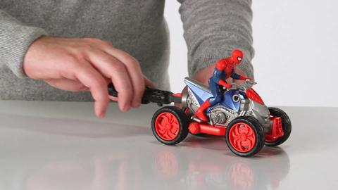 Spider-Man Blast & Go Motorcyle and ATV Demo
