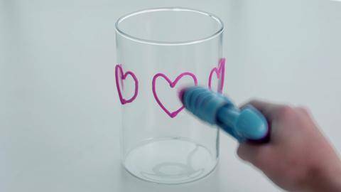 Decorating a Glass Vase