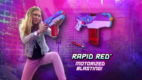 NERF REBELLE SECRETS & SPIES AGENT BOW AND RAPID RED TV COMMERCIAL