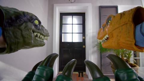 JURASSIC WORLD VELOCIRAPTOR CLAWS AND CHOMPING MASK TV COMMERCIAL