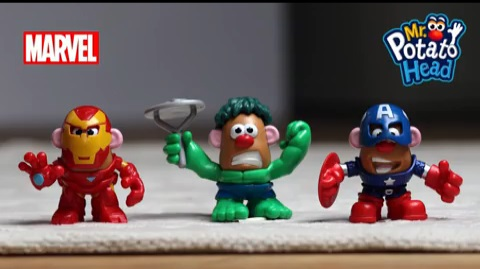 Mr Potato Head - Mixable Mashable Heroes Time Lapse