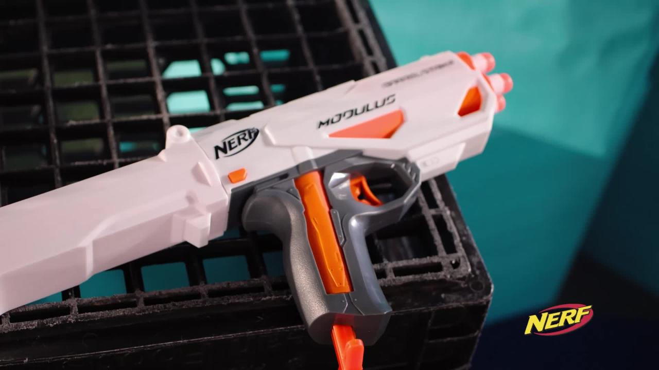 NERF MODULUS BARRELSTRIKE AND STOCKSHOT BLASTERS | FORWARD THINKING