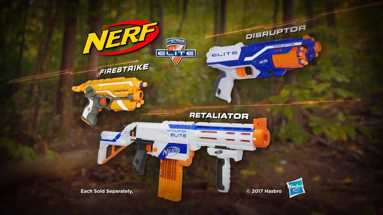 Nerf Elite: Disruptor, Retaliator, Firestrike TVC