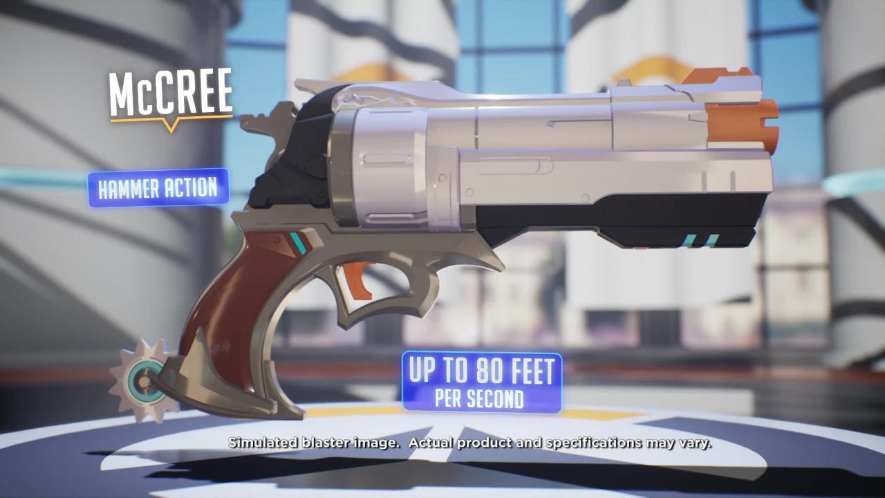 NERF Rival Overwatch 遊戲槍: Reaper、D.VA 和 McCree