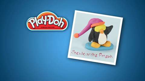 Play-Doh Look What I Made Snowboarding Penguin Video