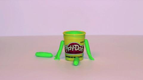 Stop Motion Green Doh Doh