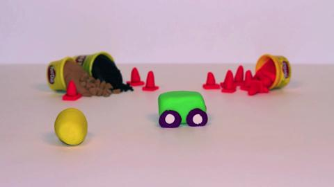 Stop Motion Cement Truck