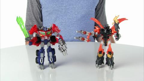Transformers Prime Beast Hunters Voyager Class Optimus Prime & Predaking