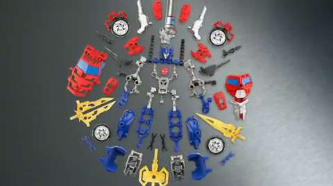 Transformers Construct-Bots Optimus Prime and Megatron Instructional Video